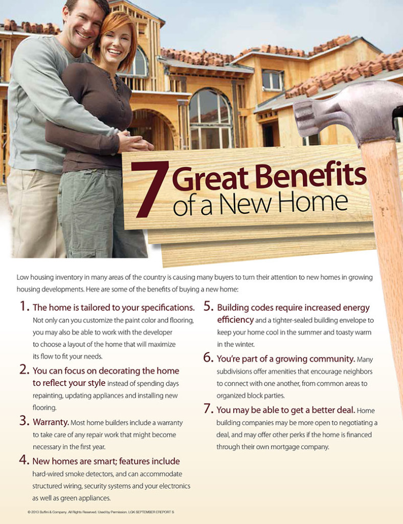 7 Great Benefits of a New Home