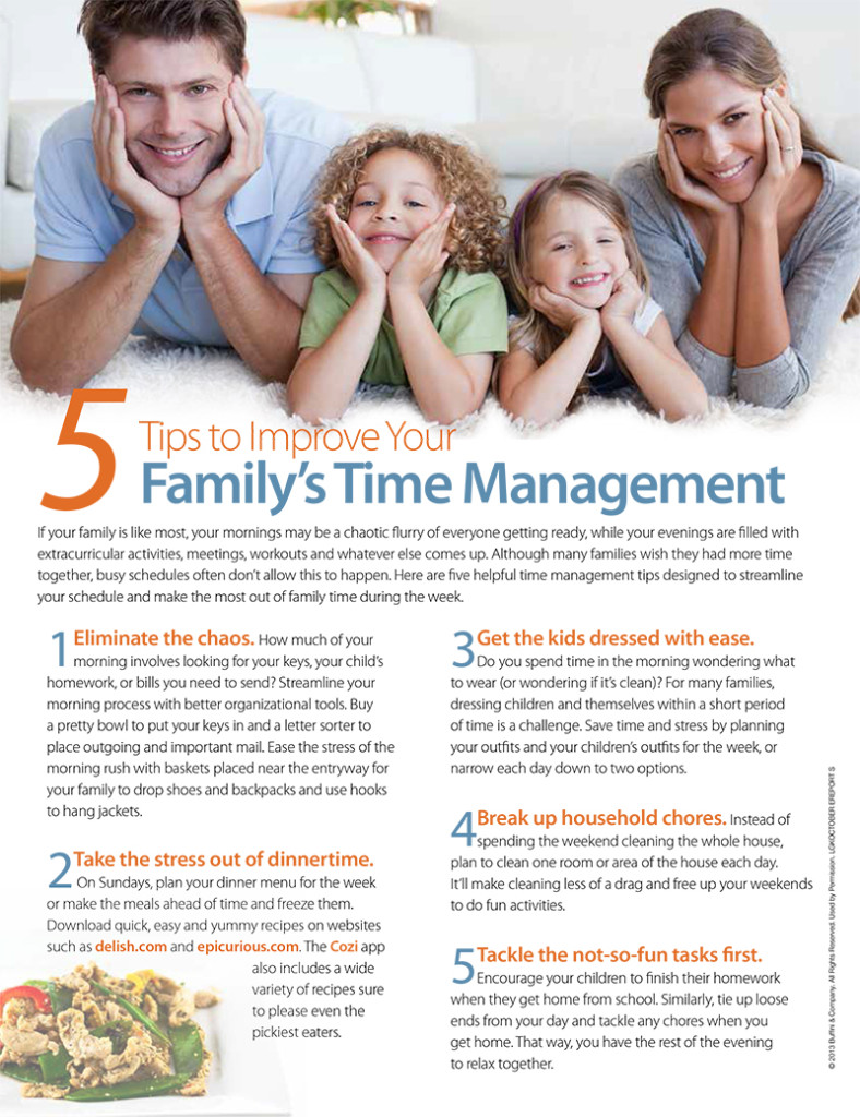 Five Tips to Improve Your Family's Time Management