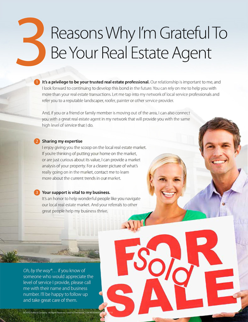 3 REASONS WHY I'M GRATEFUL TO BE YOUR REAL ESTATE AGENT
