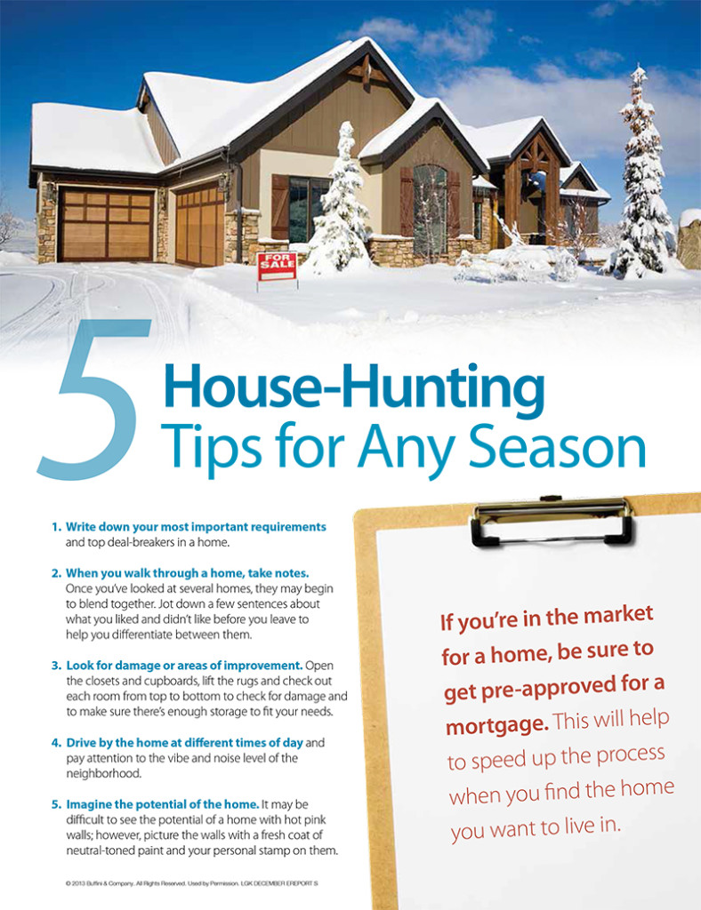 5 House-Hunting Tips for Any Season