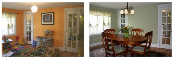 Before & After Staging Home for Sale