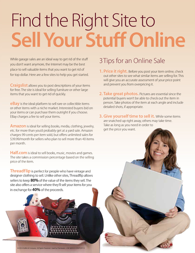 Find the Right to Site to Sell Your Stuff Online