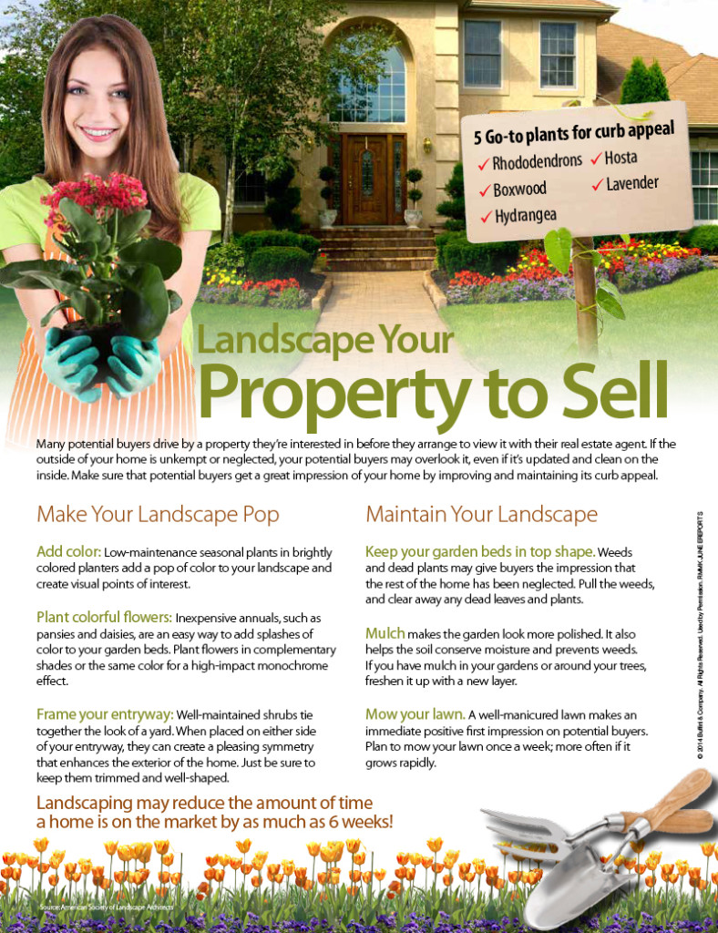 LANDSCAPE YOUR PROPERTY TO SELL