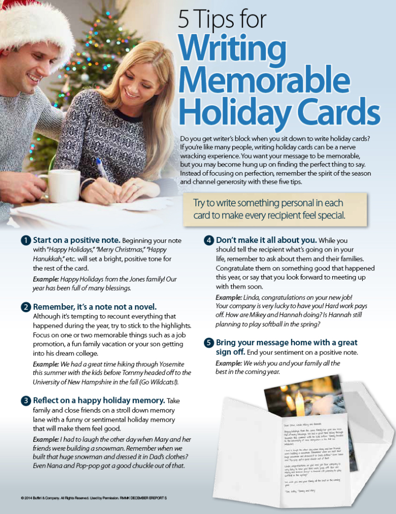 5 Tips for Writing Memorable Holiday Cards