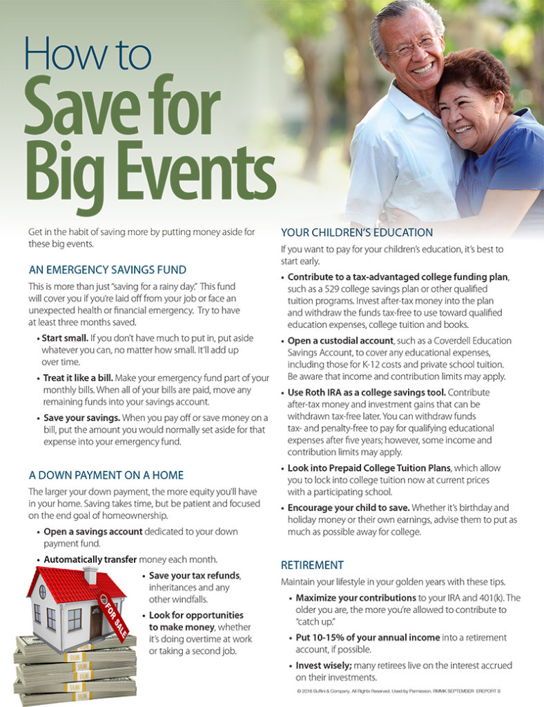 How to Save for Big Events